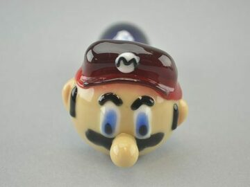 "Post Products: CHAMELEON – ""Mario"" Spoon Pipe w/ Single Hole Push Bowl & Carb"
