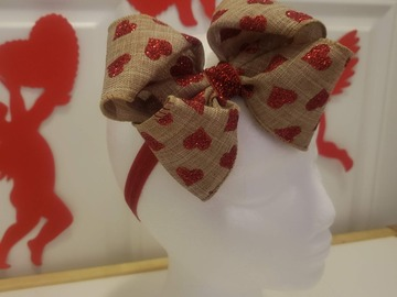 Selling with online payment: Burlap Bow Headband - 14 inch