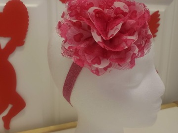 Selling with online payment: Red Heart Blossom Bow Headband - 14 inch