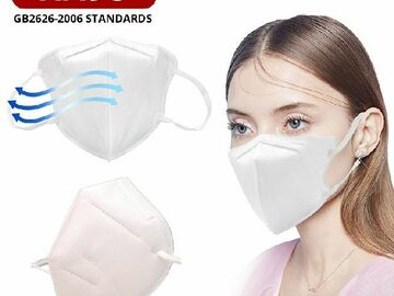 Liquidation/Wholesale Lot: KN95 Face Masks, Mouth/Face Respirator Protection, 10-Packs,