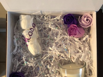 Selling with online payment: Bridesmaid Gift Box Set  - Champagne Glass