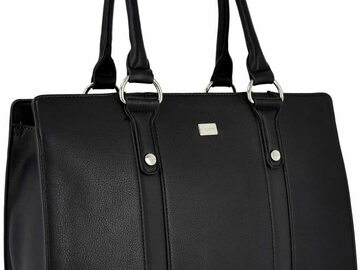 Verkaufen mit Online-Zahlungen:  Ladies Large Tote Handbag - Women Top Handle PU Leather Top Hand