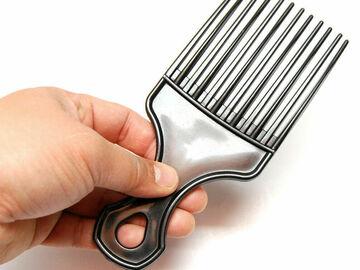 Liquidation/Wholesale Lot: 7″ Black Afro Pik Lift Hair Comb Detangle Wig Braid Hair