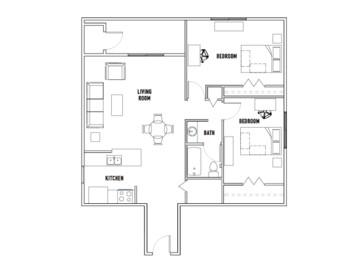 List Your Space: 2 bedrooms 1 bathroom apartment in Willowtree tower