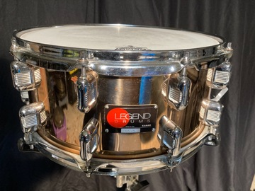 Selling with online payment: Rare '90 Legend Phosphor Bronze 6.5x14 snare, red dot badge