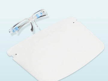 SALE: Full Coverage Reusable Safety Face Shield with Glasses Frame - 1