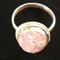 Selling with online payment: Sterling Natural Titanium Druzy Ring