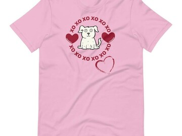 Selling: Valentine's Day T-Shirt for Dog Lovers
