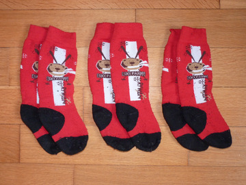 Vente: Lot de 3 paires de chaussettes de ski 27-30