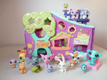 Vente: Littlest Petshop - La Garderie violette + accessoires et animaux