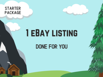 Offering online services: One eBay Listing - Done For You