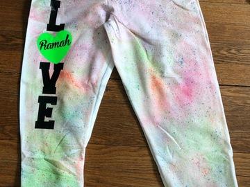 Selling A Singular Item: Ramah Neon Splatter Sweatpants