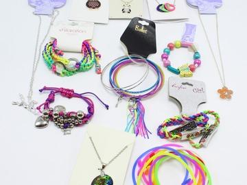 Liquidation/Wholesale Lot: New  48 PC Girls Dept Store Jewelry Lot