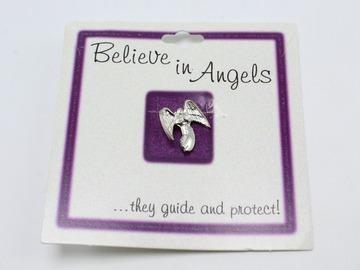 Liquidation/Wholesale Lot: Dozen New Guardian Angel Tac Pin on Gift Cards