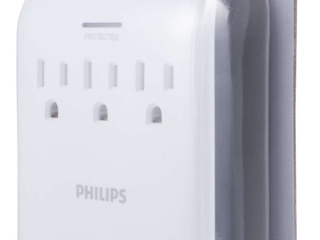 Buy Now: 10 Philips 3-Outlet Surge Protector Wall Tap with 2 USB Ports