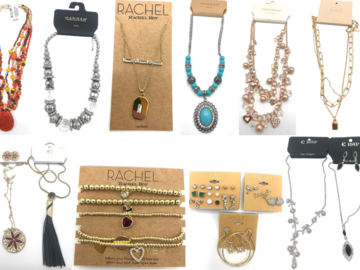 Compra Ahora: 25 pcs Name Brand Jewelry Lot- Rachel Roy ,Macy's , Nordstrom ect