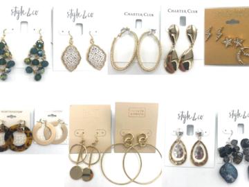 Buy Now: 100 pr Name Brand Earrings - Rachel Roy ,Macy's ,Nordstrom ect..