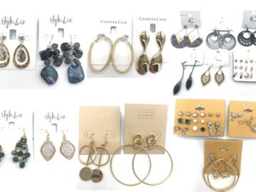 Buy Now: 50 pr Name Brand Earrings - Rachel Roy ,Macy's ,Nordstrom ect..