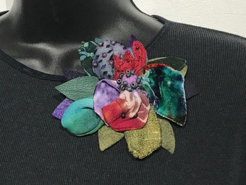 Selling with online payment: Hand Dyed Fabric Brooch