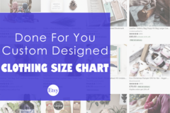 Offering online services: Fully Customized Size Chart For Your Shop (USA, UK, ASIA)