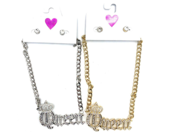 Buy Now: 24  Queen Necklace & Earring Sets w/ Crystal Stones