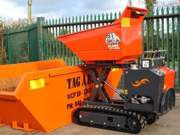 Daily Equipment Rental: Hi lift tracked diesel barrow