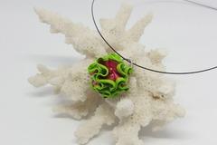 Vente au détail: Chiffonnade rose liseret vert fluo