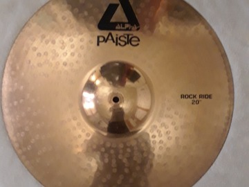 """Selling with online payment: Paiste Alpha 20"""" Rock Ride Cymbal"""