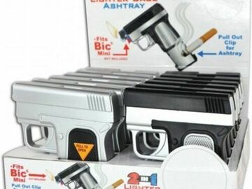 Compra Ahora: 1 Display Of 12 Pcs 2 In 1 Lighter Case Ashtray Reg 7.95 EA