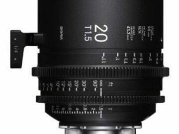 Vermieten: SIGMA FF HIGH SPEED PRIME 20mm, T1.5 FF