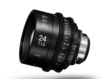 Vermieten: SIGMA FF HIGH SPEED PRIME 24mm, T1.5 FF