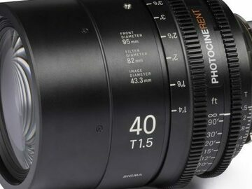 Vermieten: SIGMA FF HIGH SPEED PRIME 40mm, T1.5 FF