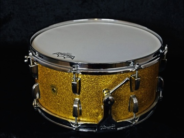 "Wanted/Looking For/Trade: 1960s Ludwig 'Symphonic' Snare drum, GOLD SPARKLE, 6.5""X14"""