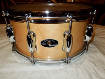 "Selling with online payment: Slingerland Natural Maple Concert King 14""X 61/2"" purchased new"