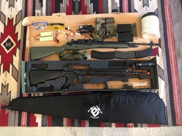 Selling: M16 and M14 plus accessories