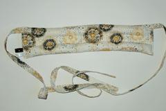 Vente au détail: Bouillotte sèche - bandeau blanc pissenlit - modèle h/f