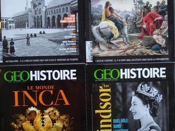 Vente: Lot de 4 magazines GEO HISTOIRE 2020 - 2021