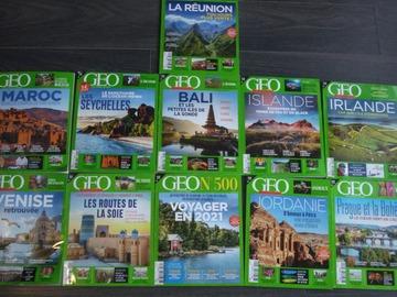 Vente: Lot de 11 magazines GEO 2020 - 2021