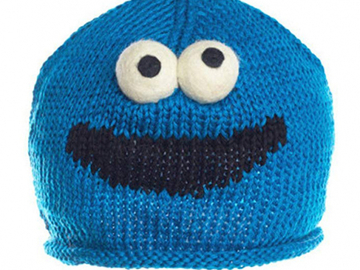 Buy Now: Knitwits Toddlers' Cookie Monster   Knit Wool Beanie lot of 10