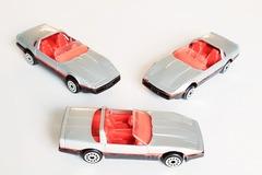 Buy Now: Plastic Diecast 1984 Corvette Roadster Convertible Silver Black