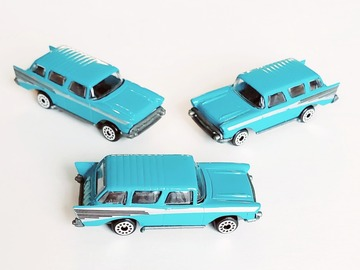 Buy Now: Plastic Diecast Aqua Blue 57′ Chevy Toy Car – 1:64 Scale