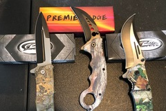Buy Now: Lot of 3 Camo assisted opening knives