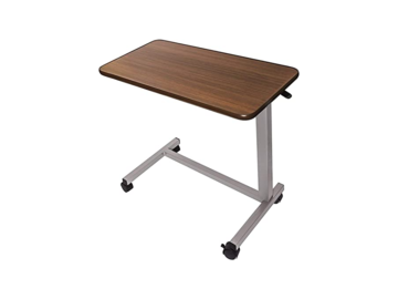 SALE: Overbed Table with Spill Proof Vinyl Wrap Top