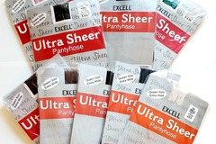 Buy Now: Ultra Sheer Assorted Color Pantyhose – Queen Size Fits 56″ Hips
