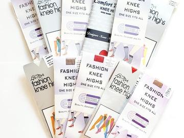 Buy Now: Bulk Lot Price – Fashion Ladies Knee Hi's (Assorted Colors) –