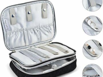 Buy Now: Premium Large Quilted Velvet Travel Jewelry Case