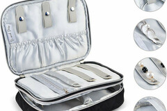 Buy Now: Premium Large Quilted Velvet Travel Jewelry Case