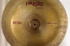 "Selling with online payment: Paiste 3000 RUDE 20"" CHINA TYPE Cymbal"