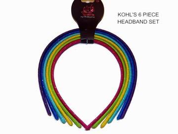Buy Now: Kohl's Fabric Headband Set – 6 Piece Girls Multi-Color  #540341