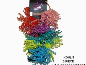 Buy Now: Kohl's Girls Ponytail Holder Hair Ties Dangling Beaded Set 6 pcs